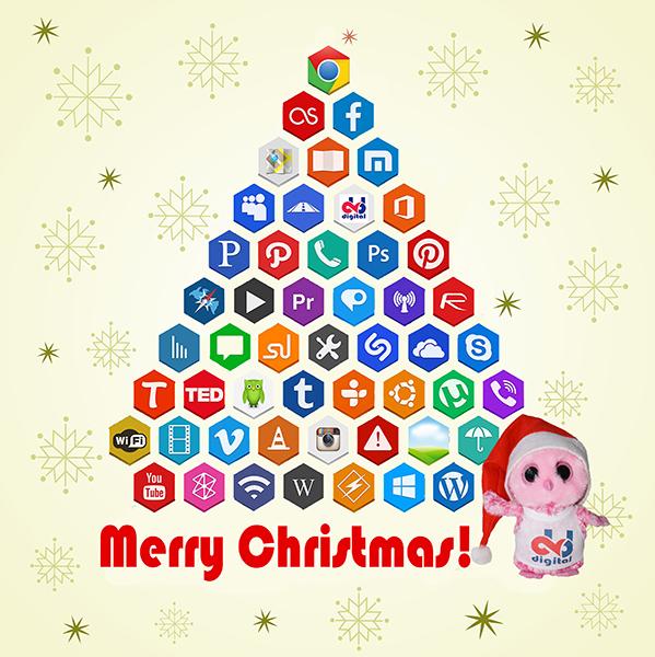 kerst, social merdia kerstboom