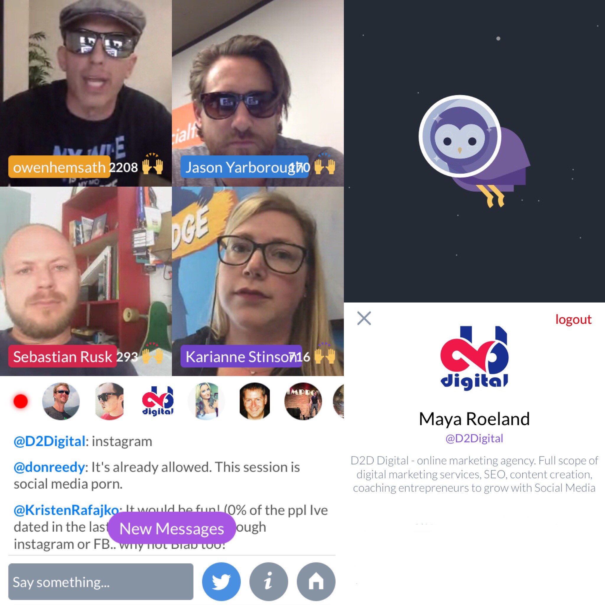 New Video Chat Blab Where You Can Switch Places With The Host