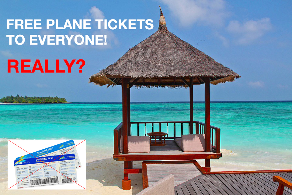 TRENDING ON SOCIAL MEDIA: FAKE AIRLINE FREE FLIGHTS PROMO SCAM
