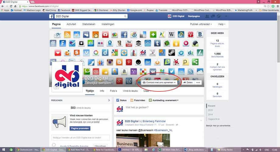 Nieuw voor Facebook bedrijfspagina's: Call to Action knopje