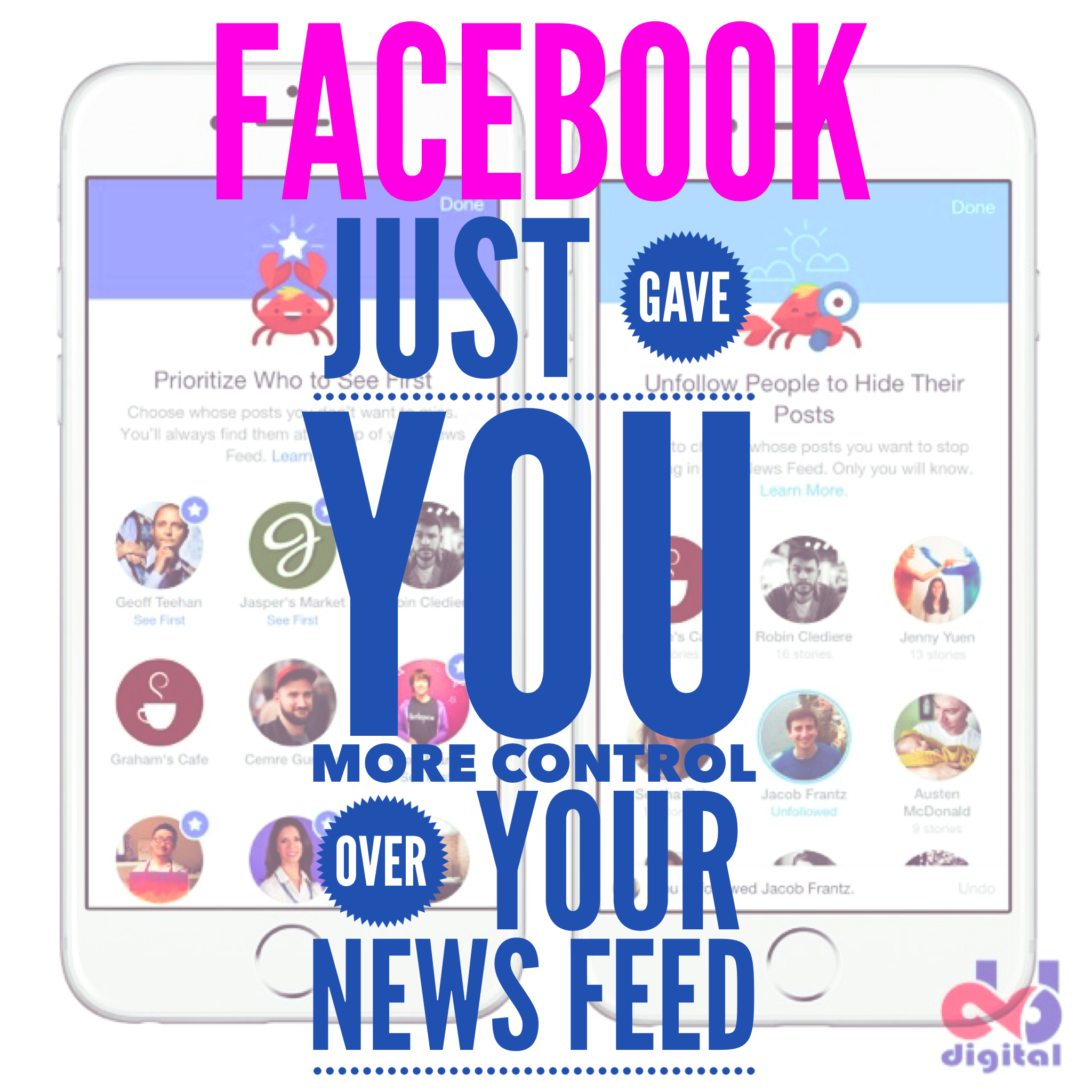 New Facebook Algorithm: User Is In Control of News Feed