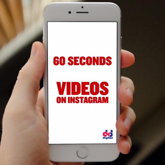 Longer Video on Instagram: 60 sec vs 15 sec